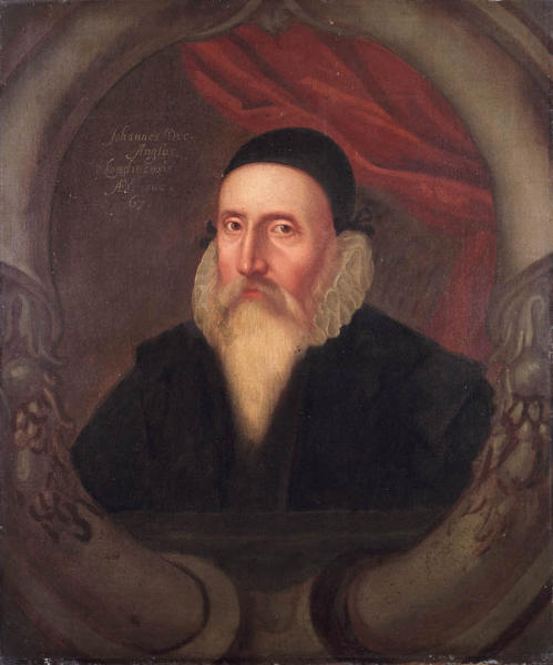 Portrait of John Dee. Sixteenth Century, artist unknown. Original in Ashmolean Museum, Oxford, UK.
